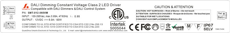 ac dc dimmable led strip driver 12v 60w