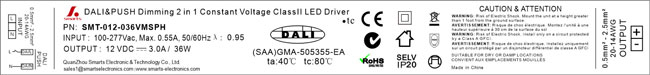 36w led driver dali dimmable 12v