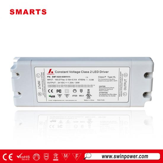 277vac 24v 30w non-dimmable led driver